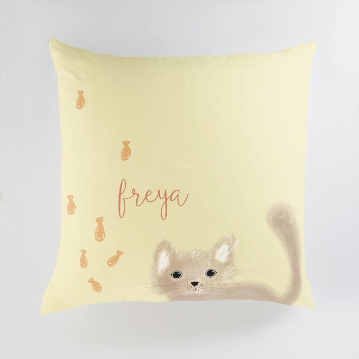 It's Raining Personalized Floor Pillows