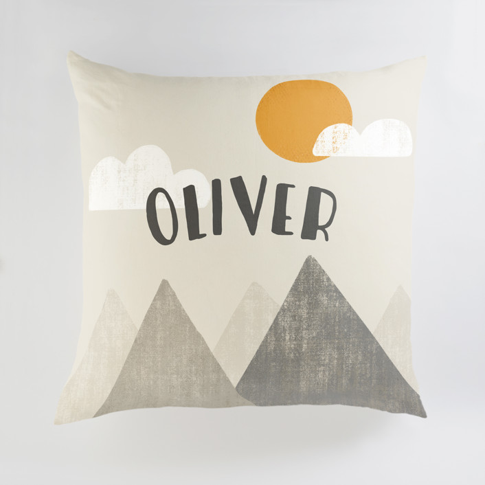 The Mountains are Calling in the Morning Personalized Floor Pillows