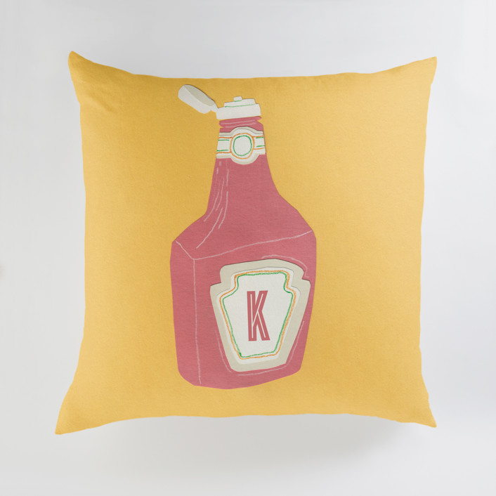 Ketchup Personalized Floor Pillows
