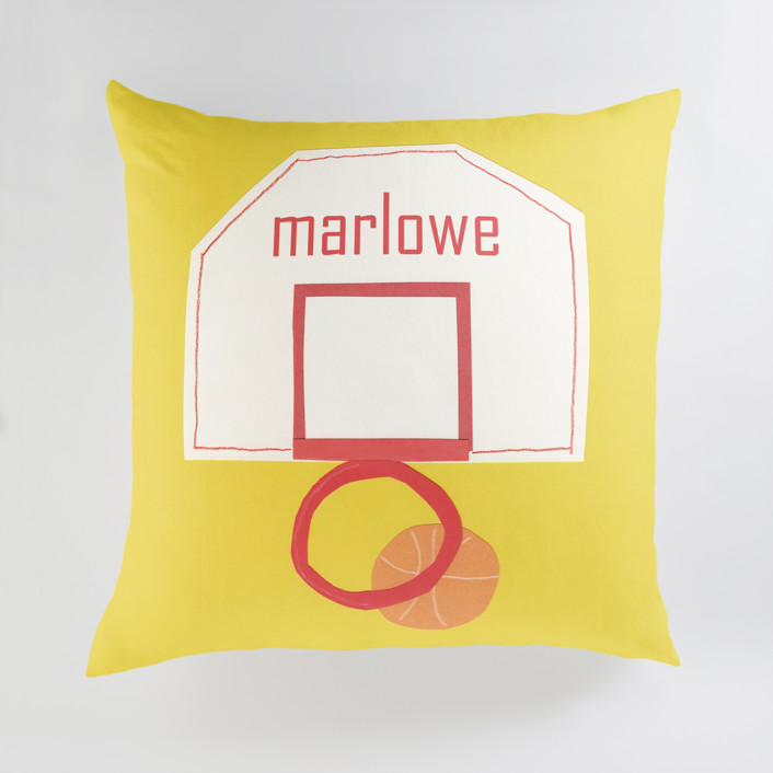 Basketball Hoop Personalized Floor Pillows