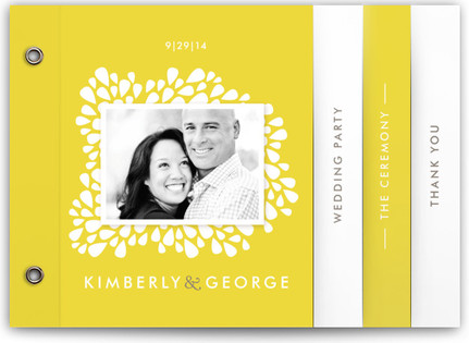 Dainty Droplets Wedding Program Minibooks