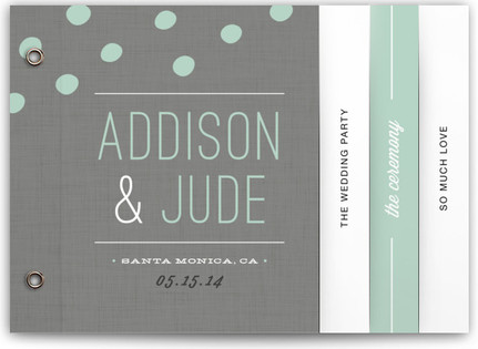 Fresh Dots Wedding Program Minibooks