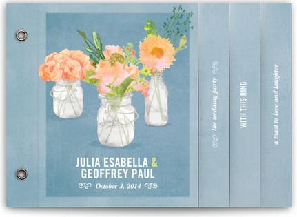 Bouquet D'Amour Wedding Program Minibooks