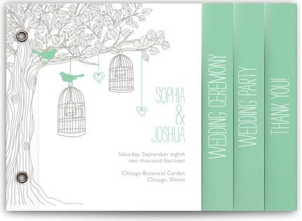 Love Let Loose Wedding Program Minibooks