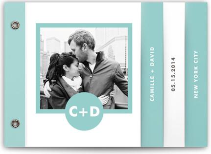 Mod Monogram Wedding Program Minibooks