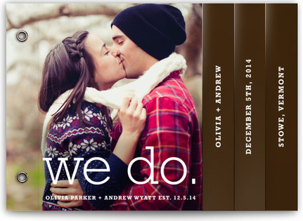 We Do Wedding Program Minibooks