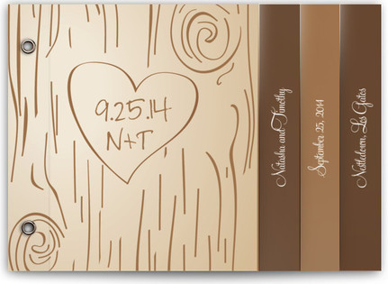 Fall Carving Wedding Program Minibooks