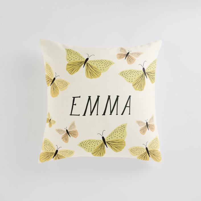 Garden Butterflies Personalizable Pillows