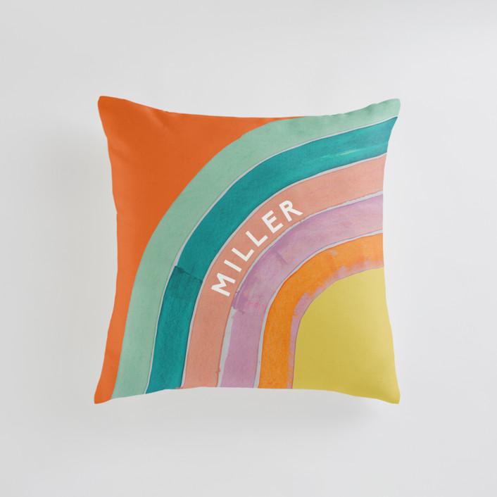 Sherbert Rainbow Personalizable Pillows