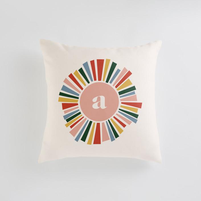 Rainbow Burst Personalizable Pillows