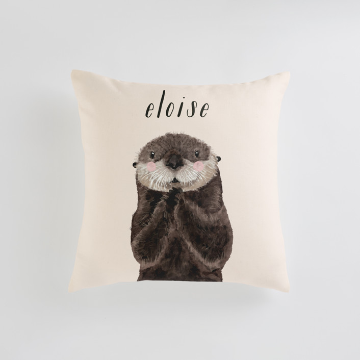 Baby Animal Sea Otter Personalizable Pillows