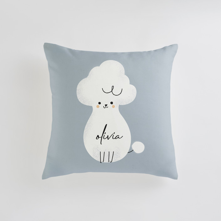 Poodle Personalizable Pillows