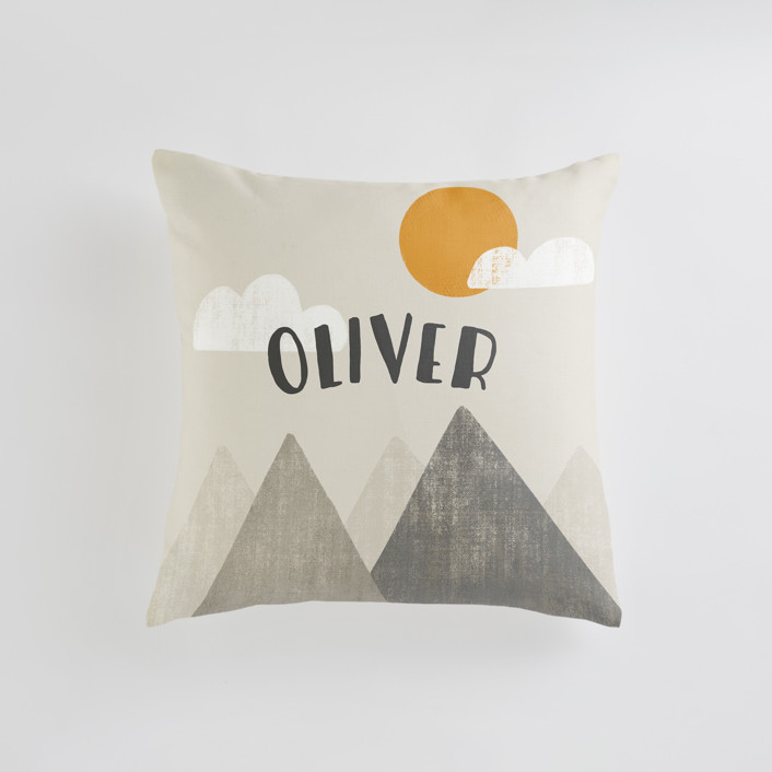 The Mountains are Calling in the Morning Personalizable Pillows