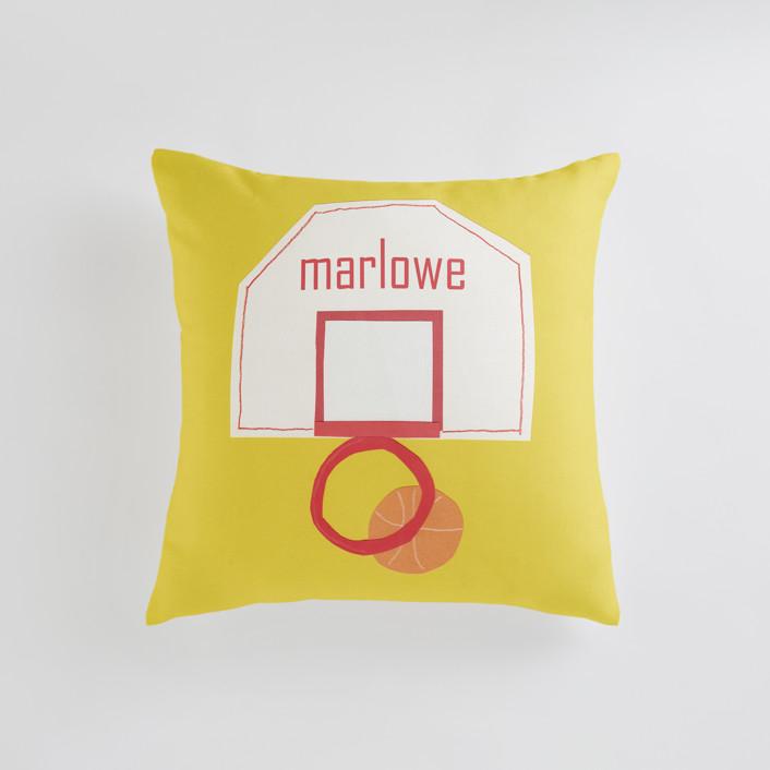 Basketball Hoop Personalizable Pillows