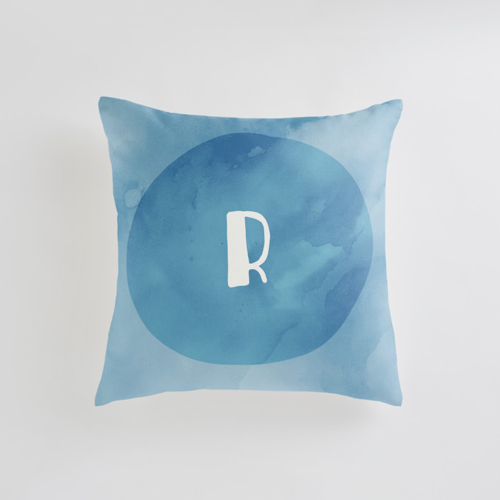 Spring Sun Initial Personalizable Pillows