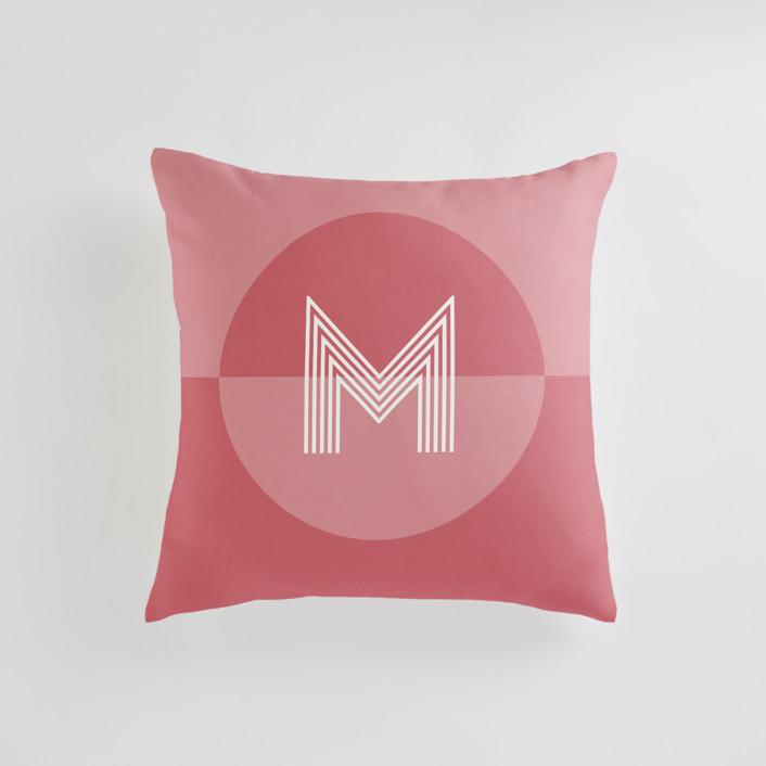 Mod Circle - Warm Personalizable Pillows