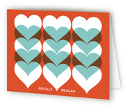 Hearts A Flutter Folded Personal Stationery