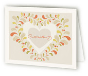 Growing Hearts Folded Personal Stationery