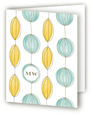 Paper Lanterns Folded Personal Stationery