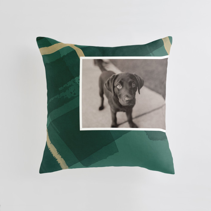 Painted Holiday Plaid Medium 20 Inch Photo Pillow