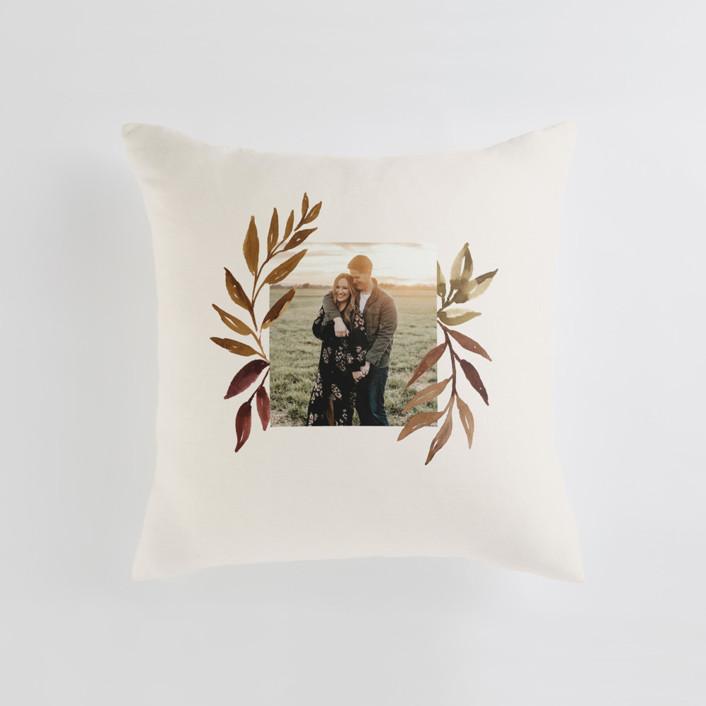 botanical portrait Medium 20 Inch Photo Pillow