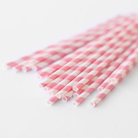 Bubblegum Pink Paper Straws