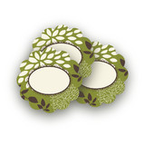 Everything Green Scalloped Stickers