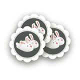 Pajama Scalloped Stickers