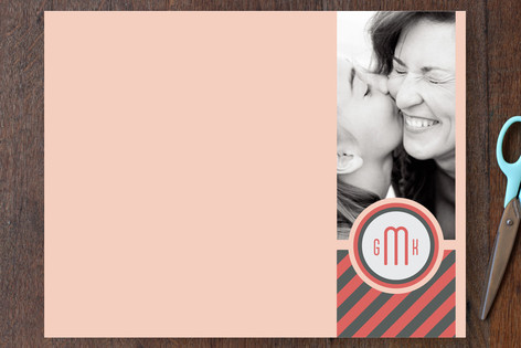 Modern Monogram Stripes Personalized Stationery