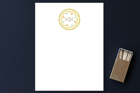 Intricate Monogram Personalized Stationery