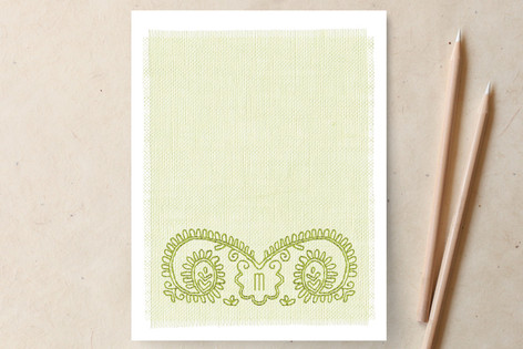Sew Springy Personalized Stationery