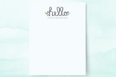Homespun Hello Personalized Stationery