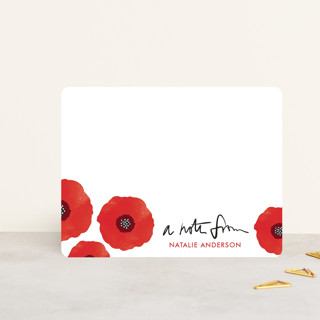 Poppy Talk Personalized Stationery