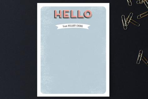 Retro Hello Personalized Stationery