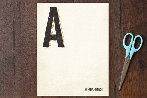 Initial Note Personalized Stationery