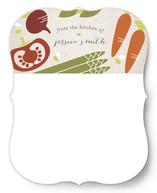 Veggie Platter Personalized Stationery