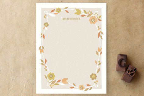 Garden Grace Personalized Stationery