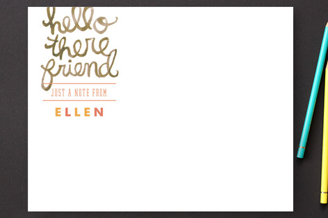 Hello There Friend Personalized Stationery