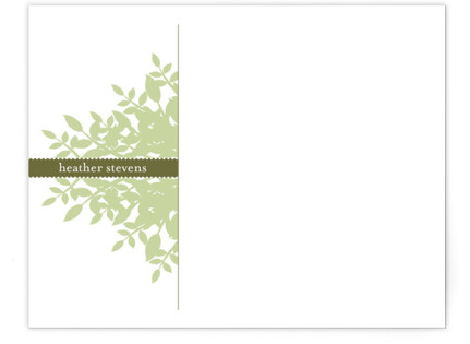 Leafy Personalized Stationery