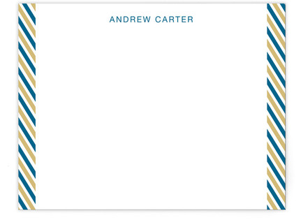 Side Stripes Personalized Stationery