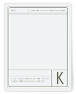 Bold Initial Personalized Stationery