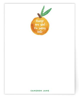 Orange You Glad Personalized Stationery