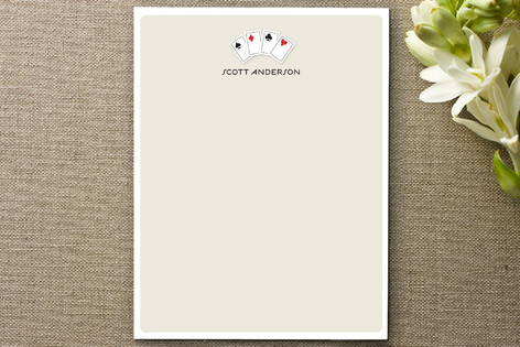 Playing Cards Personalized Stationery
