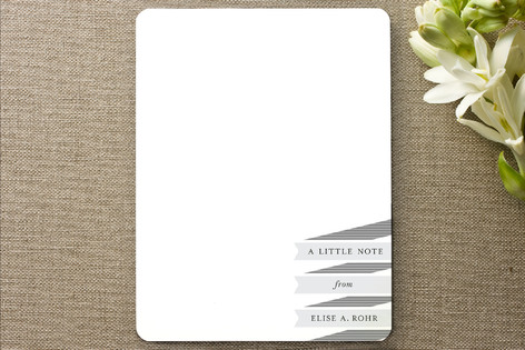Stacked Stripes Personalized Stationery