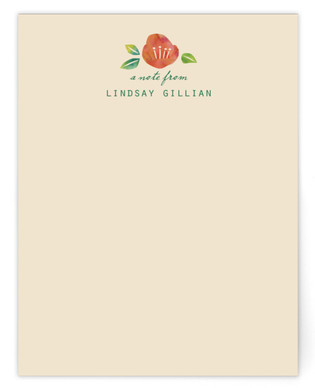 Japanese Quince Personalized Stationery