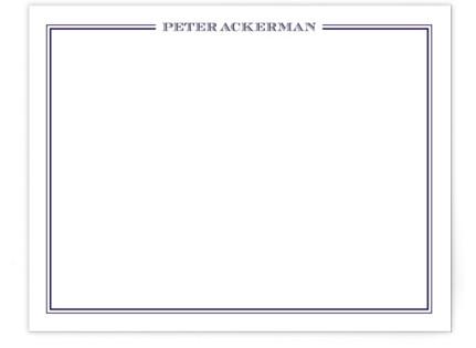 gentleman Personalized Stationery