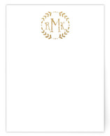 Glittered Monogram Personalized Stationery