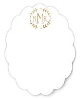 Glittered Monogram Personalized Stationery