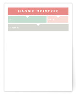 Chic Memo Personalized Stationery