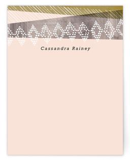 Desert Stripes Personalized Stationery